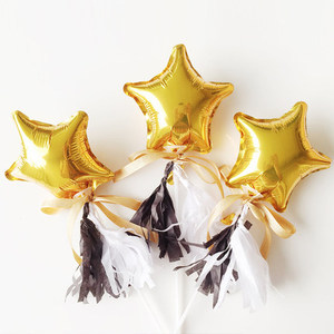 Image 3 - 20Pcs/30Pcs/50Pcs 5Inch  Small Cute Star Heart Foil Balloon Wedding Decoration Birthday Party Baby Shower Balloon Decoration Toy