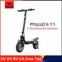 2019 PFULUO X-11 Kickscooter Smart Elektrische Roller 1000W Motor 50 km/h 11 zoll Tubeless Reifen 2 Rad Off- straße Hover Skate Bord