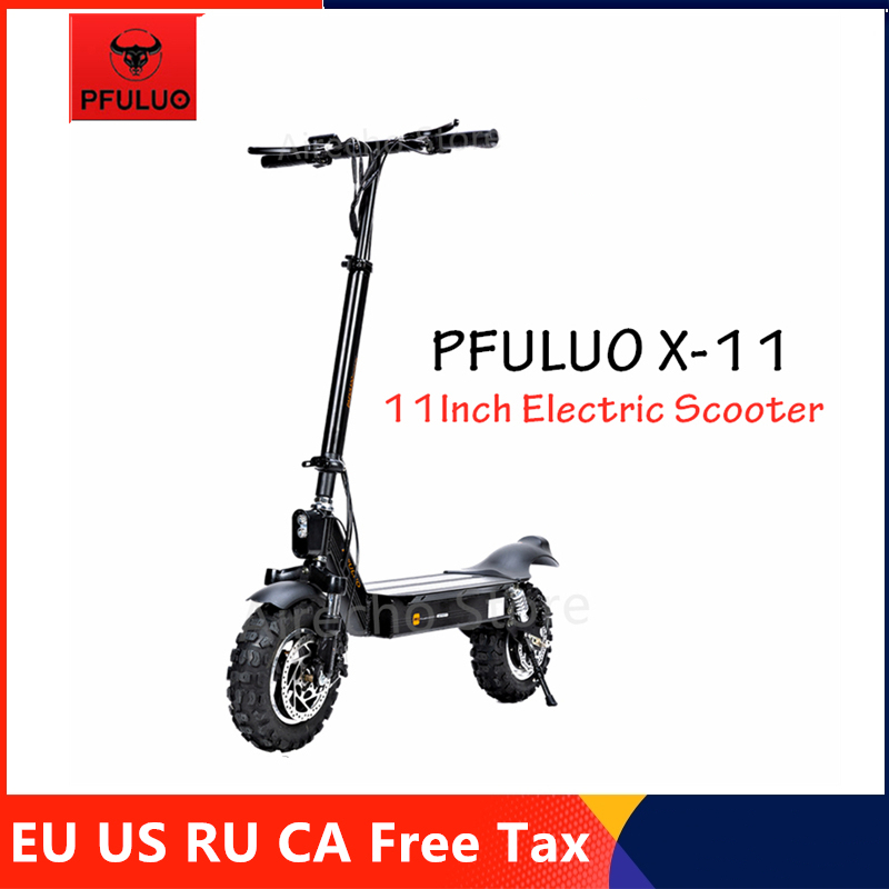 2019 pfuluo X-11 kickscooter inteligente scooter elétrico 1000 w motor 50 km/h 11 polegada sem câmara pneu 2 roda fora-estrada hover skate board