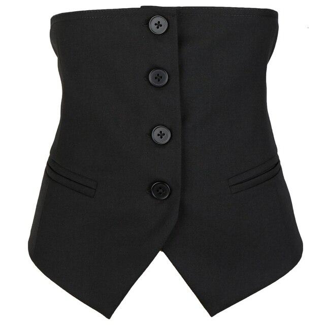 [EAM] Women Black Button Split Joint Asymmetrical Loose Fit Vest New Sleeveless   Fashion Tide Spring Autumn 2021 1K371 4