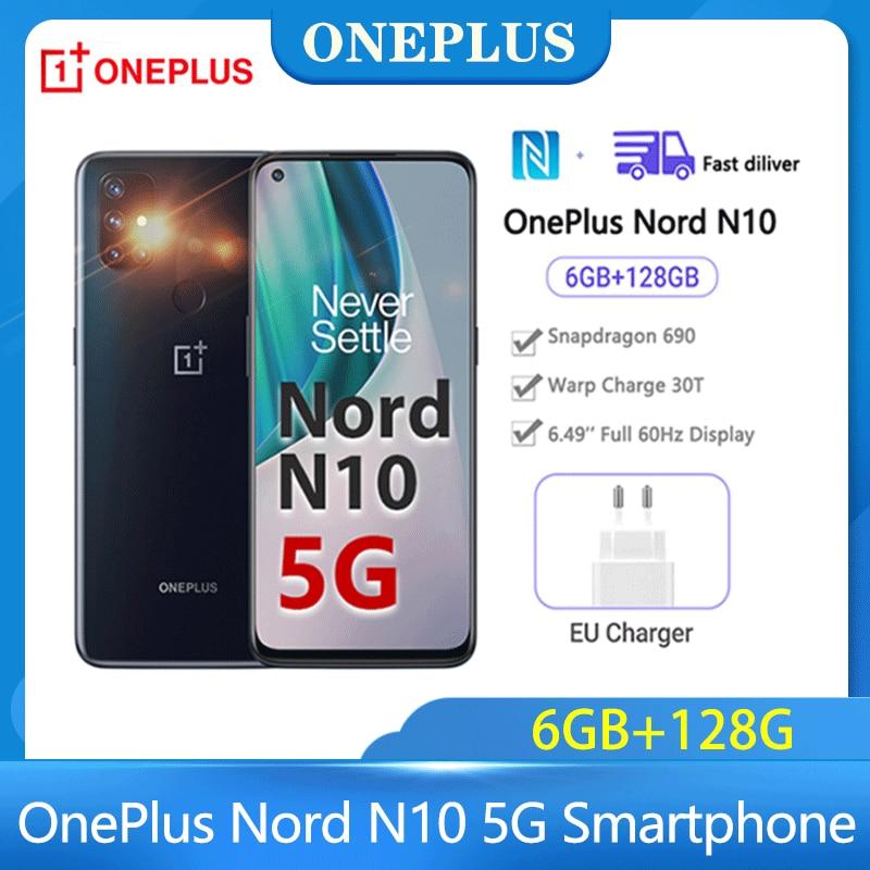 Чехол из ПВХ для Oneplus Nord N10 мобильный телефон Глобальная версия Oneplus Nord 5G Смартфон Snapdragon 690 6 ГБ 128 90 Гц FHD + безрамочный экран с ЖК-дисплей мобиль...