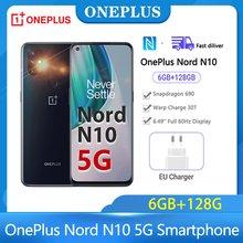 Oneplus Nord N10 telefon komórkowy wersja globalna Oneplus Nord 5G smartfon Snapdragon 690 6GB 128GB 90Hz FHD + LCD telefony komórkowe 64MP
