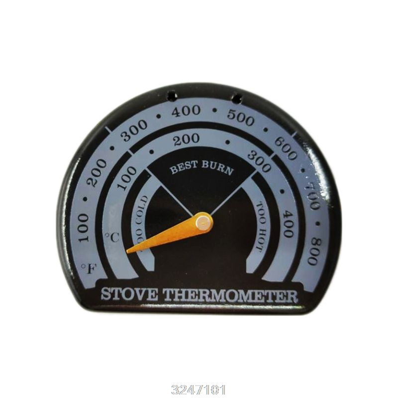 Magnetic Wood Fireplace Fan Stove Thermometer With Probe Household Barbecue Tool