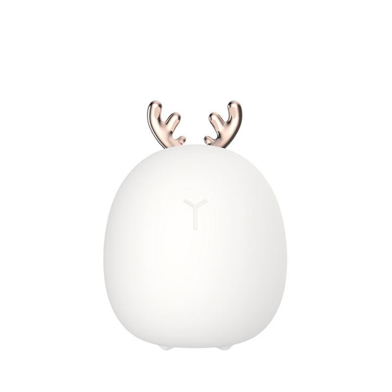 Led Carton Deer Rabbit Silicone Night Light Touch Rechargeable Christmas Atmosphere Lamp Light Children Baby Light