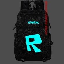Robloxer game bag Student School bag Canvas  Luminous Bagpack Men Backpack Teenagers Schoolbags Canvas Men Backpack цены