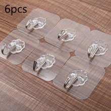 Buy 10PCS creative pattern nano glue strong transparent suction cup suction cup hook kitchen bathroom hanger hook no trace hook directly from merchant!