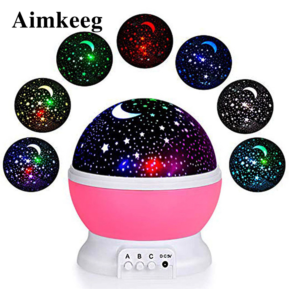 LED Night Light RGB Star Projector Lamp USB Projector Moonlight Star Night Light Christmas Gift Children Bedroom Decoration Lamp