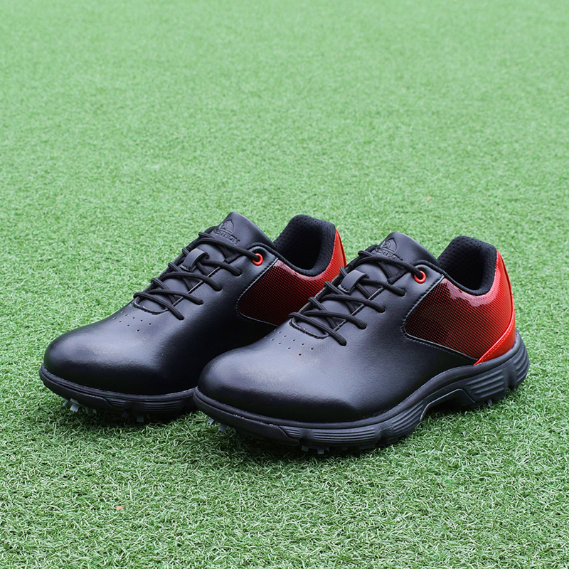 Men Professional Golf Shoes Waterproof Spikes Golf Sneakers Black White Mens Golf Trainers Big Size Golf Shoes for Men