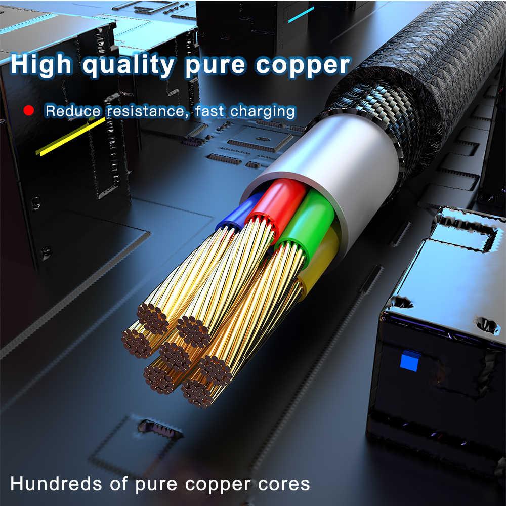 KEYSION USB-C كابل مغناطيسي لسامسونج ملاحظة 10 10 + A50 شياو mi mi 9T K20 سريع شحن سلك نوع -C المغناطيس شاحن الهاتف كابل