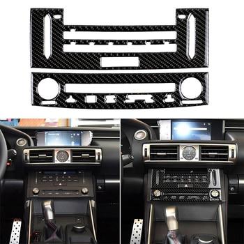 Adhesivo de fibra de carbono para LEXUS IS250 IS350 2014-2018, para consola central Interior de coche, pegatinas de diseño de embellecedor de cubierta de Panel de CD para coche