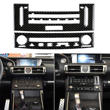 For LEXUS IS250 IS350 2014 2018 Car Carbon Fiber Sticker Interior  Center Console CD Panel Cover Trim Car Styling Stickers