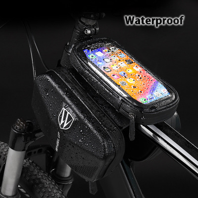 Wheel up Bicycle bag EVA mobile phone touch screen waterproof beam package car front bag tube bag mountain bike in Bicycle Bags Panniers from Sports Entertainment