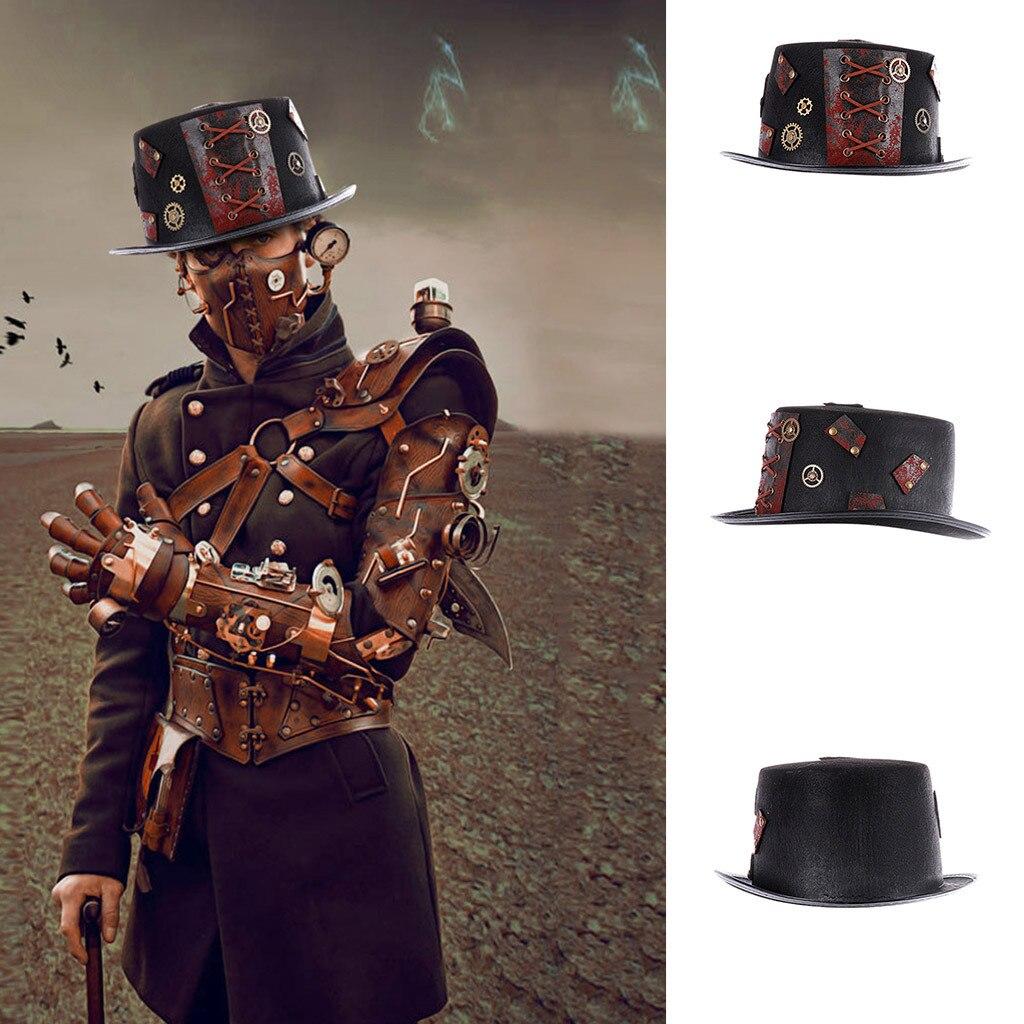 шапка cap hatCosplay Halloween Carnival Masquerade Party Steampunk Period Hat Steampunk Cap шапка женская Purchasing 2019