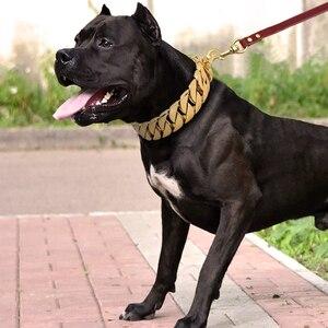 Image 2 - سوبر قوي سلسلة الكلاب طوق الحيوانات الأليفة زلة خنق طوق الفضة الذهب الفولاذ المقاوم للصدأ سلسلة للكلاب كلاب متوسطة وكبيرة الحجم بيتبول البلدغ
