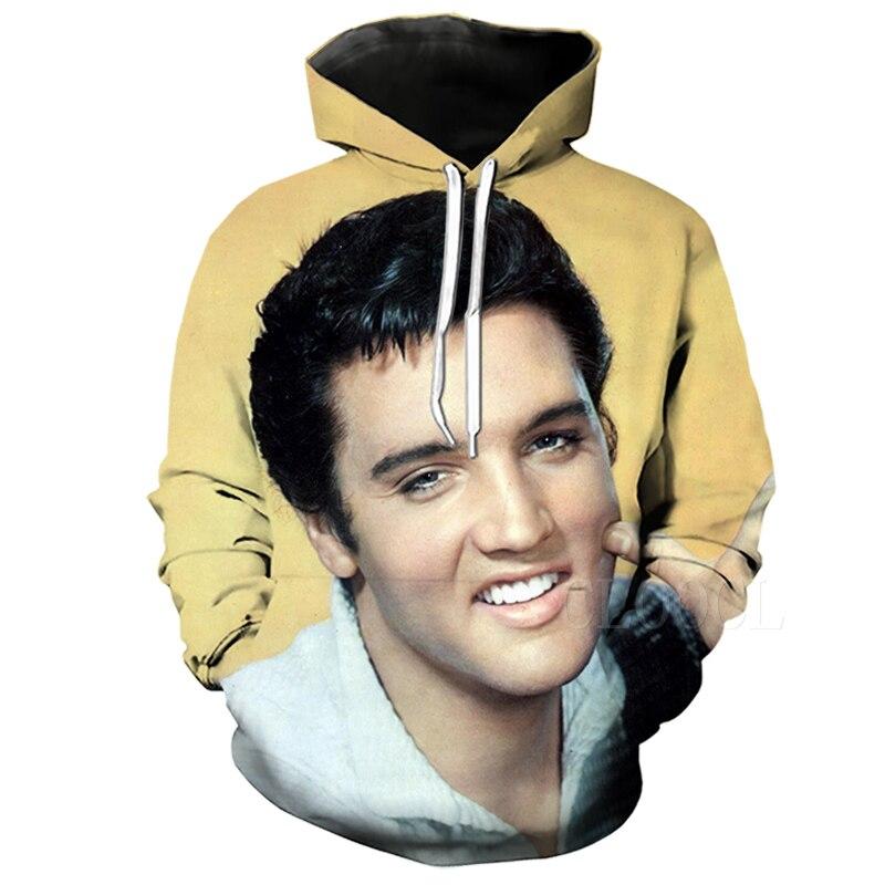 Elvis Presley Women//Mens 3D Print Casual Hoodie Sweatshirt Pullover Plus size