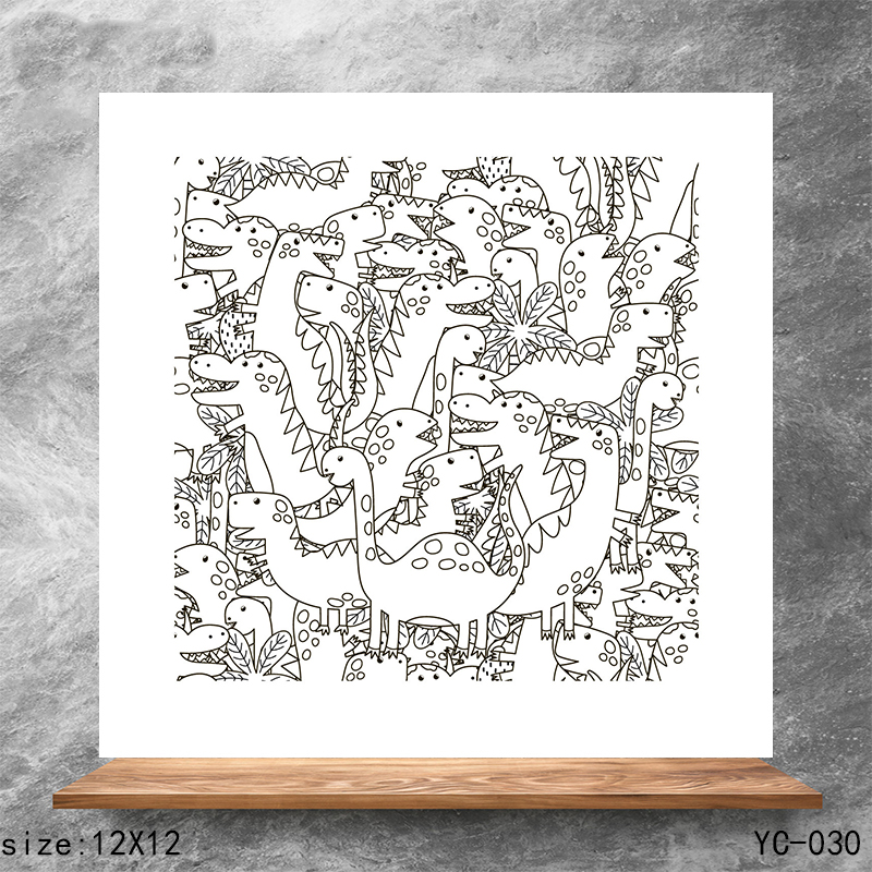 ZhuoAng Dinosaur Clear Stamps Silicone Transparent Seals for DIY scrapbooking photo album Clear Stamps in Stamps from Home Garden