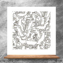 ZhuoAng Dinosaur Clear Stamps/Silicone Transparent Seals for DIY scrapbooking photo album Stamps