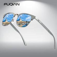 Мужские солнцезащитные очки с поляризацией в полуоправе