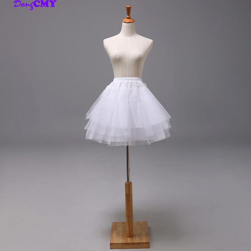 DongCMY Mini Short White Petticoat Underskirt For Ball Gown Wedding Dress Mariage Underwear Crinoline Wedding Accessories