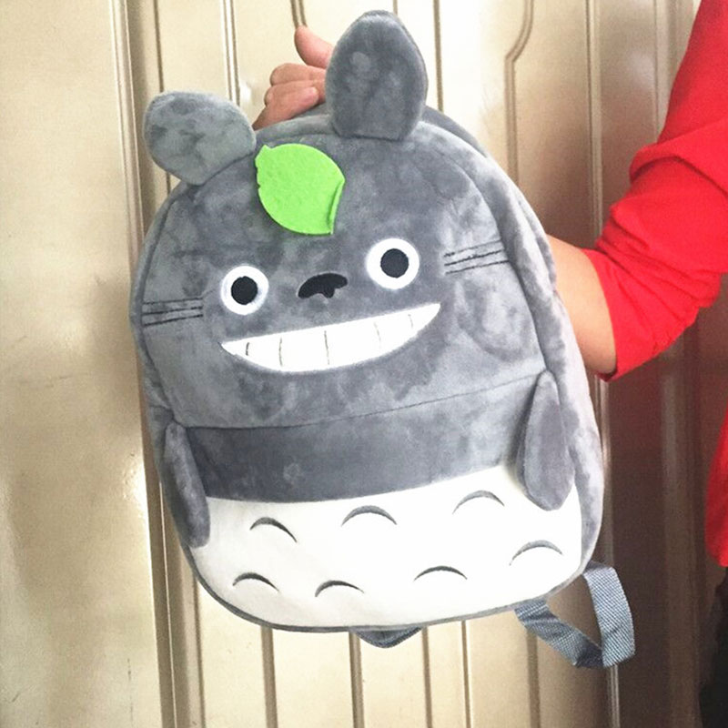 Cute My Neighbor Totoro Plush School Bag Kawaii Totoro Plush Doll Schoolboy School Bag Cartoon Backpack Children New Year Gift