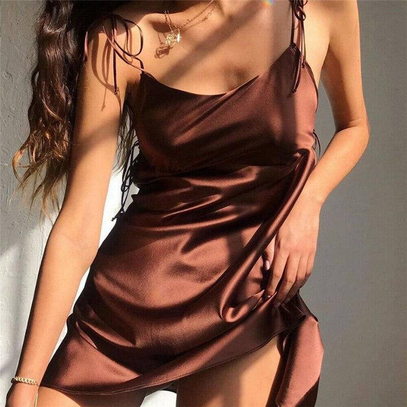 Сексуальная ночная рубашка на бретельках, женская ночная рубашка, летняя сексуальная ночная рубашка с v-образным вырезом, нижнее белье, ночн...