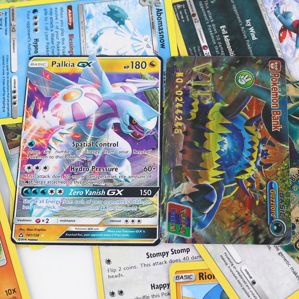 42pcs Pokemon Trading Card Game For Kids Play Card Toy Collections Metal Boxed VIP Gold Card Shining