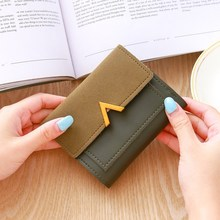NEW Short Women wallets Matte Hasp Small Wallet