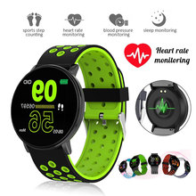 2020 119 Plus inteligentny zegarek mężczyźni kobiety ciśnienie krwi wodoodporny Sport okrągły Smartwatch inteligentny zegar opaska monitorująca aktywność fizyczną dla Android IOS tanie tanio HESTIA CN (pochodzenie) Brak Na nadgarstek Zgodna ze wszystkimi 128 MB Krokomierz Rejestrator aktywności fizycznej