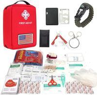 Kit de primeiros socorros ao ar livre saco portátil viagem medicina kit de emergência sacos caso bolsa para viagens caminhadas caça|Segurança e sobrevivência| |  -