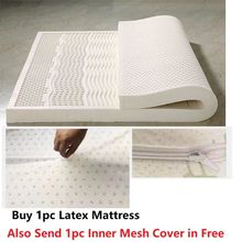 Natural Latex Tatami Soft Latex Mattress Topper Queen Twin King Size Latex Mattress with Cover 10 two layers traditional firm high softness cotton mattress with 2 pillows twin size white