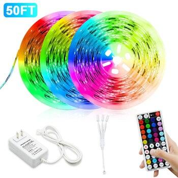 цена на Led Strip Light RGB 12V 24V LED Strip TV Music 5050SMD Flexible 5M 10M 15M 20M Diode Tape RF Remote AC85-265V LED Light For Room