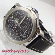 цена Corgeut 44mm Mechanical Watches Luminous Hands Man Watch 2019 Diver Watch Hands Winding relogio masculino Role Luxury Watch Men онлайн в 2017 году