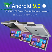 15.6 Inch Scherm Digitale Scherm Android 9.0 Autodak Monitor Lcd Flip Down Screen Overhead Multimedia Video Plafond Dak Mount