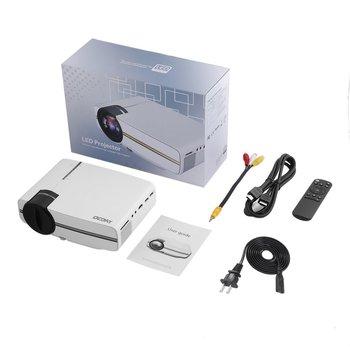 OCDAY Портативный Легкий HDMI Регулируемый экономичный Мультимедийный Домашний кинотеатр ЖК-дисплей HD светодиодный цифровой проектор белый