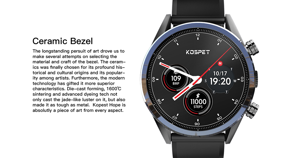 Waterproof kospet Hope 3GB Smart Watch with 8MP Camera including Google play store and GPS Map waterproof for men available for Android ios 9