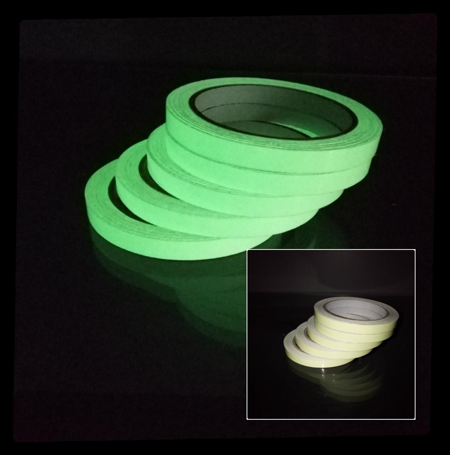 Luminous Tape Self Adhesive PET Warning Tape Night Vision Glow In Dark Wall Sticker Fluorescent Emergency Stickers Glow In Dark