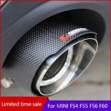 Cauda do carro tubo de escape exterior decoração silenciador modificação para bmw mini f54 f55 f56 f57 f60 estilo do carro acessórios