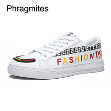 Phragmites Fashion Alphabet Shoes Men Comfortable Flats Black Lace-up Oxfords Formal Footwear Chaussure Homme