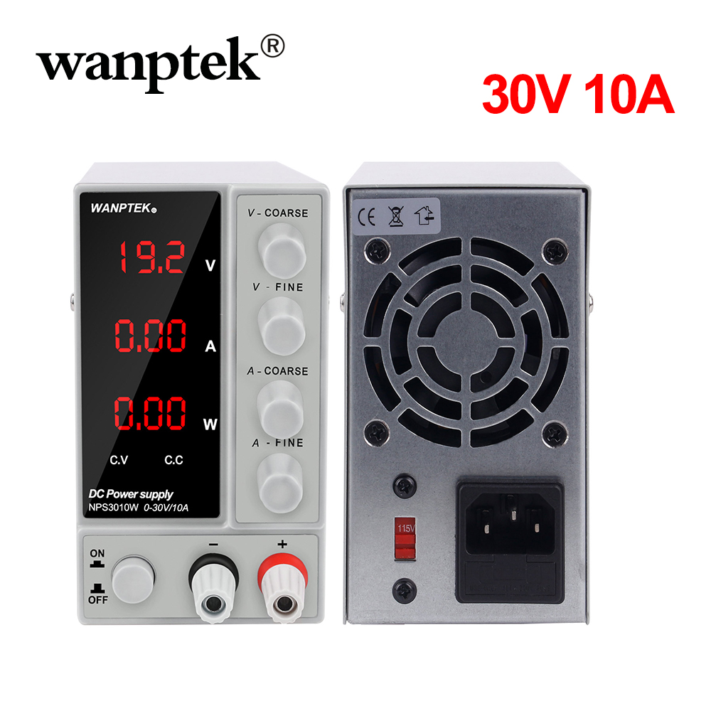 Wanptek <font><b>DC</b></font> Lab Regulated Adjustable Power <font><b>Supply</b></font> Lab 30V 10A 5A Switching Power Source Voltage Regulator Stabilizers <font><b>30</b></font> <font><b>V</b></font> DIY image