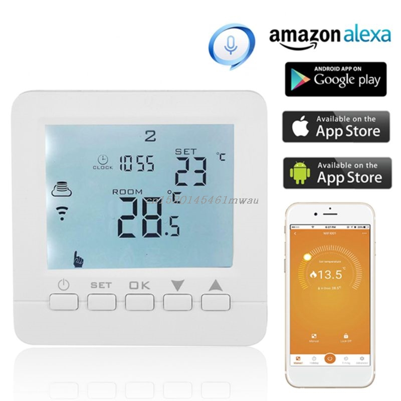 WiFi Smart Electric Heating Thermostat Room Temperature Controller 16A 90-240VAC For Alexa Echo Google Home IFTTT 831F