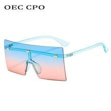 Солнцезащитные очки oec cpo большого размера без оправы Женские