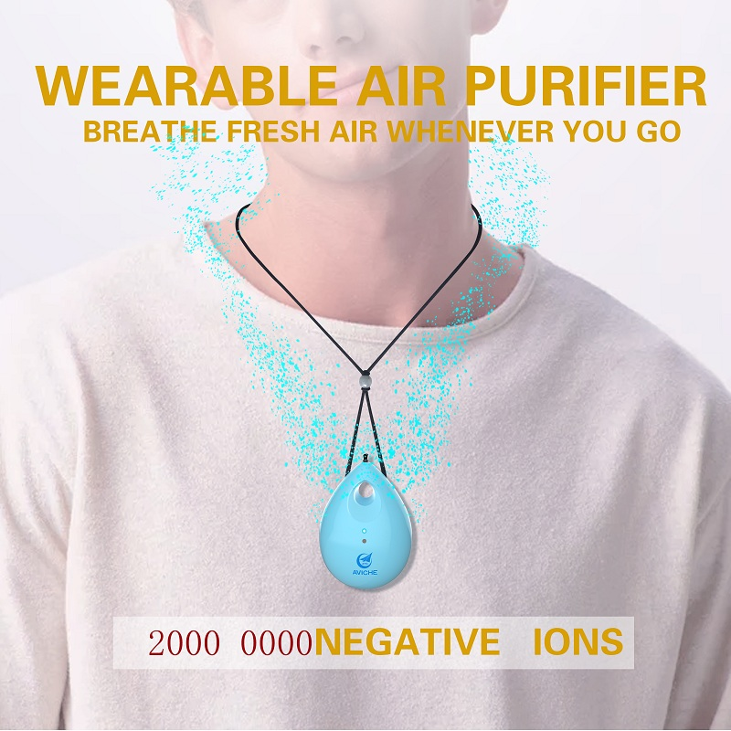 Wearable Personal Air Purifier Travel Negative Ion Generator Eliminator for Smoke Dust Odors and A Gift to Protect Your Lover in Air Purifiers from Home Appliances