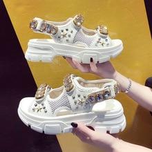 Summer new fashion women's sandals Korean version of rivets beach shoes