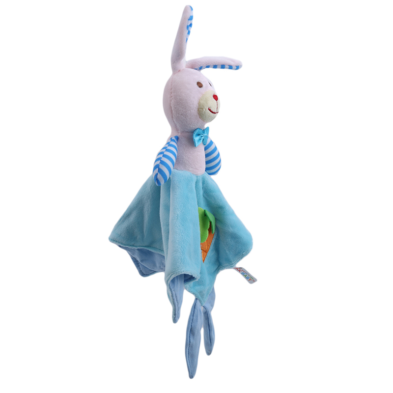 Cute Baby Nursery Rabbit Towel Baby Stuffed Rattles Children Educational Stroller Toys Doll Comforting Towels Soft Towel
