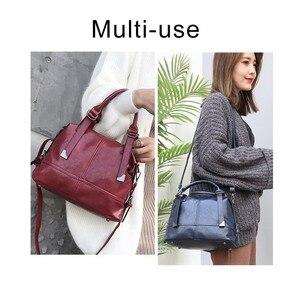 Image 2 - Herald moda kadın çantaları kadınlar için Crossbody çanta Retro Vintage bayanlar deri çantalar kadın omuzdan askili çanta kadın fermuar kese