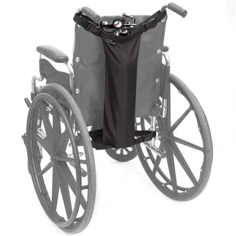 Wheelchair Oxygen Cylinder Bag Oxford Cloth Portable Storage Pouch Universal Wheel Chair Oxygen Tank Waterproof Black Hanging Ba