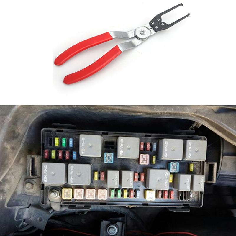 Инструмент для разборки автомобиля, замена автомобильного релейного зажима, Щипцы Для Извлечения, плоскогубцы для удаления предохранителе...