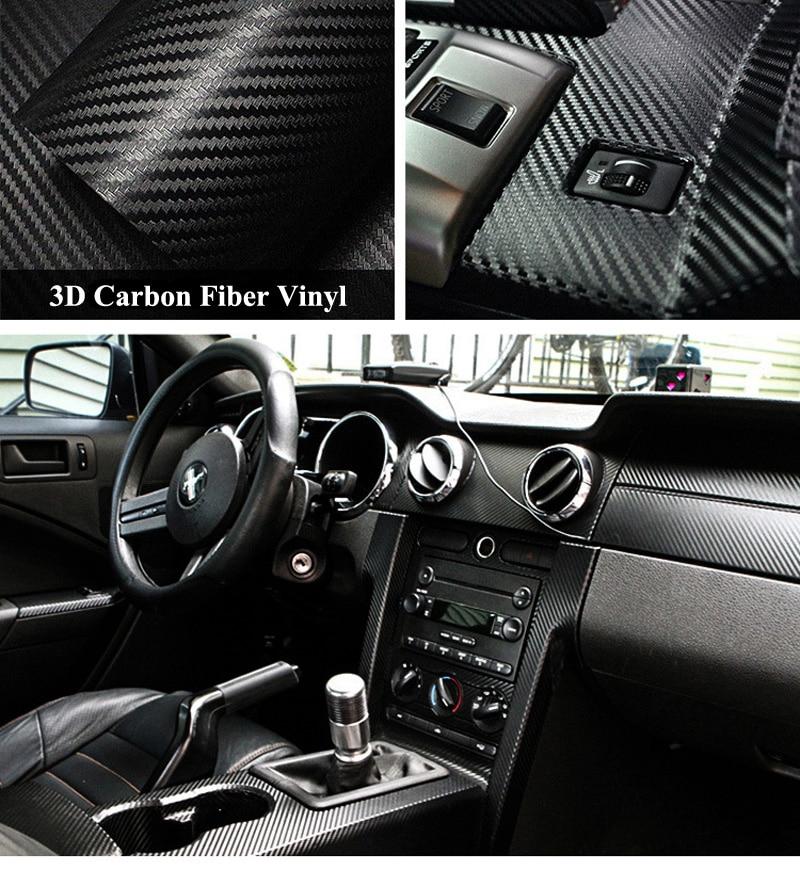 Black 3D Carbon Fiber Vinyl Wrap Sticker-7