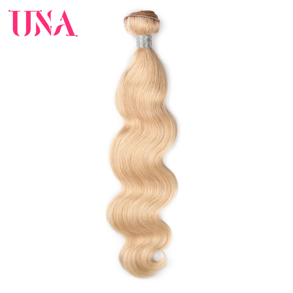 Brazilian <font><b>Body</b></font> <font><b>Wave</b></font> Human <font><b>Hair</b></font> <font><b>Bundles</b></font> 100% Human <font><b>Hair</b></font> Weaves #<font><b>613</b></font> UNA Remy <font><b>Hair</b></font> <font><b>Bundles</b></font> 1/<font><b>3</b></font>/4 <font><b>Bundles</b></font> Pack 12-18 Inches image