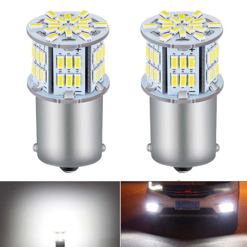 2X 1156 P21W BA15S <font><b>LED</b></font> Auto Brake Light Car DRL Reverse Bulbs For Opel <font><b>Astra</b></font> H <font><b>J</b></font> G Corsa D C Insignia Vectra B Zafira Mokka Meri image